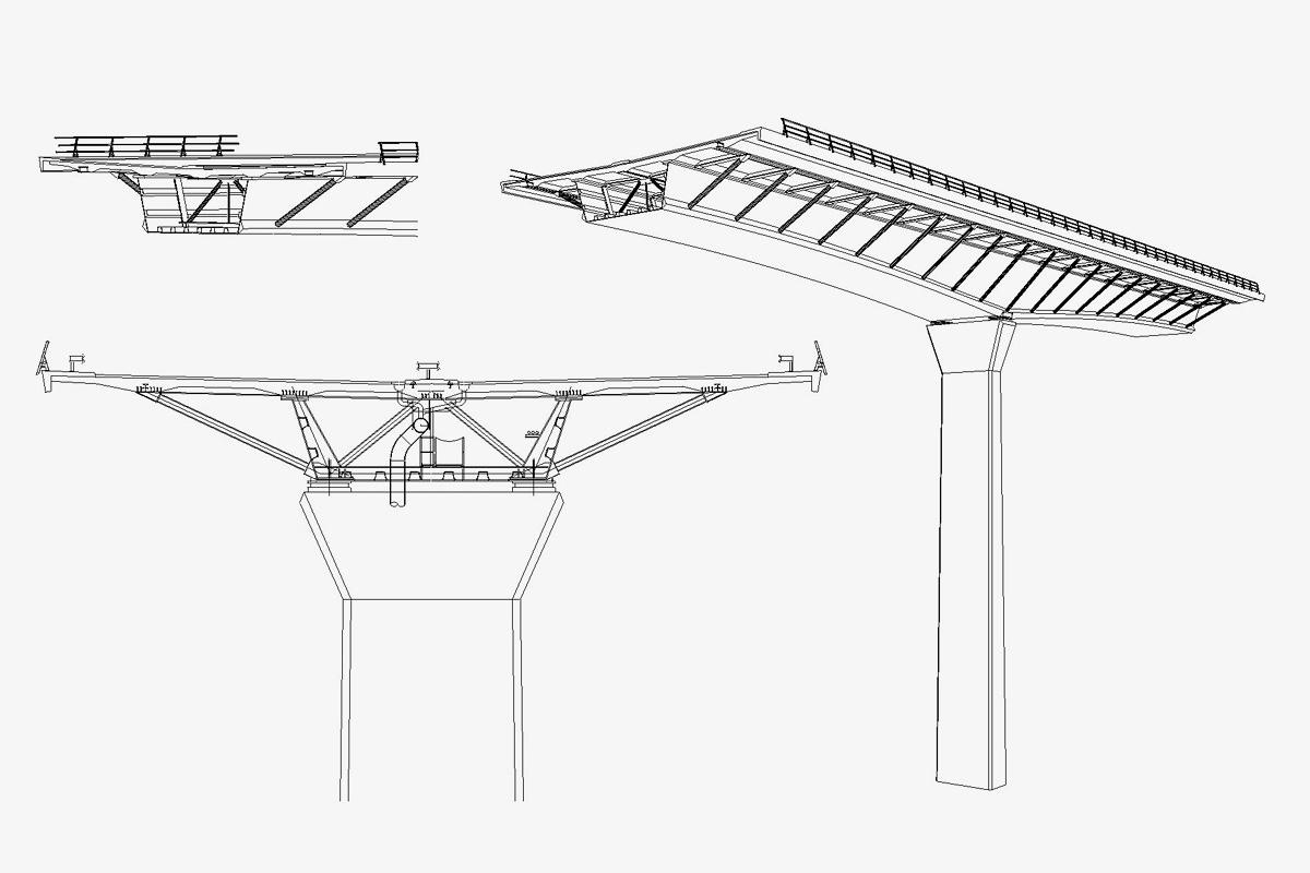 Zeichnung Reichenbachtal-Brücke